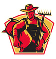 farmer agricultural worker vector image vector image