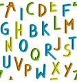 Seamless childrens bright alphabet pattern vector image