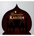Silhouette of mosque greeting vector image