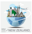 New Zealand Landmark Global Travel And Journey vector image