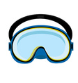 Blue diving mask vector image