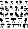 chair and table silhouette vector image