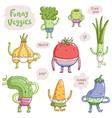 Funny veggies vector image