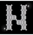 Metal letter N Gemstone Geometric shapes vector image