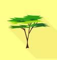 savanna tree icon flat style vector image