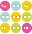 Set of sunglasses with different frames vector image