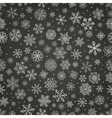 Winter Snow Flakes Doodle Seamless Background vector image