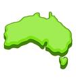 Australia map icon cartoon style vector image