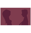Lovers Silhouette vector image