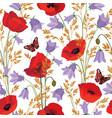 flower seamless pattern floral summer background vector image