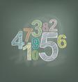 number on chalkboard vector image vector image