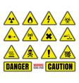 Danger symbols vector image