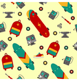 Seamless Pattern with Skateboarding Accessories vector image