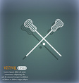 Lacrosse Sticks crossed icon On the blue-green vector image