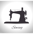 sewing machine isolated icon design vector image