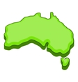 Australia map icon cartoon style vector image