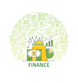 finance concept banner vector image