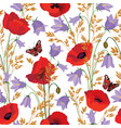 flower seamless pattern floral summer background vector image