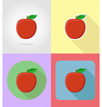 fruits flat icons 02 vector image