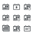 icon calendar with notes vector image