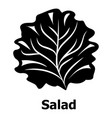 salad icon simple black style vector image
