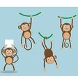set of monkeyyear of monkey vector image