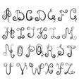 vignette alphabet vector image