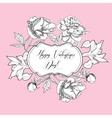 Vintage Saint Valentine Background vector image