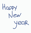 Congratulations to the New year vector image