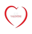 Heart outline icon vector image