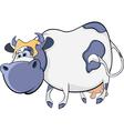 Happy blue cow Cartoon vector image vector image