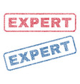 expert textile stamps vector image