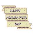 happy asalha puja day greeting emblem vector image