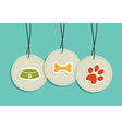 Hanging pet badges set vector image