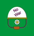 flat icon design collection no war military helmet vector image vector image