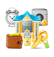Real estate business icons vector image vector image