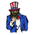 Isolated cartoon the fake doppelganger uncle sam vector image