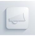 modern loudspeaker light icon vector image vector image