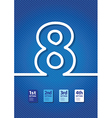 blue number vector image vector image