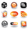 rss feed icons vector image vector image