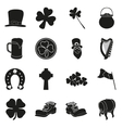 Patrick Day collection of holiday icons on white vector image