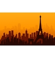 City france of silhouette vector image