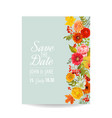 floral wedding invitation card with autumn vector image