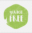 gluten free circle letters in grunge round vector image
