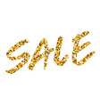 gold glitter background with text sale template vector image