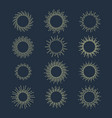 hand drawn sun beams or rays sunshine vector image