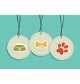 Hanging pet badges set vector image
