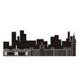 london cityscape silhouette vector image