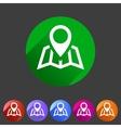 Map location icon flat web sign symbol logo label vector image