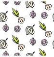 onion doodle different types seamless vector image